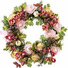 PureDay Dekokranz Edith - Türkranz mit Blumen -