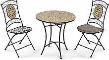 Pureday Gartenmöbel-Set aus Metall, 3-teilig