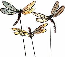 Pureday Gartenstecker-Set, 6-TLG. Libellen