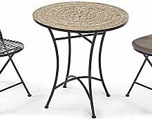 Pureday Gartentisch Kemo mit Mosaikplatte -