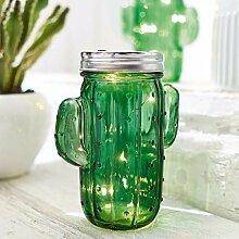 PureDay LED Leuchte Kaktus - Dekoleuchte - Glas