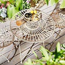 Pureday miaVILLA Gartentisch Liv - Eisentisch im