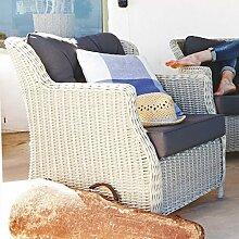 PureDay Outdoor-Sessel - inkl. Auflagen - klassisch - Kunststoffrattan