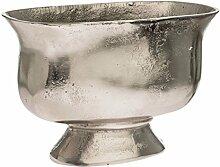 Pureday Übertopf Oval - Aluminium - Silber -