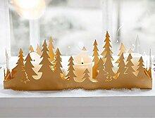 Pureday Weihnachtsdeko - Kerzentablett Golden