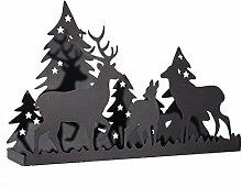 Pureday Weihnachtsdeko - Kerzentablett Winterwald