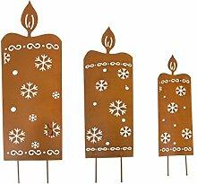 Pureday Weihnachtsdeko - LED Gartenstecker Kerzen