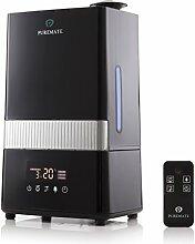 PureMate® PM 908 Luftbefeuchter Baby 4,5L Smart Raumbefeuchter Ultraschall , Abschaltautomatik Diffusor Humidifier mit LED Display Fernbedinung für Wohnzimmer, Kinderzimmer, Schlafzimmer