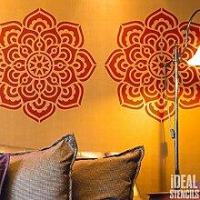 Puri Mandala Symbol Schablone wiederverwendbar Heim Wand Dekor , Kunst & Handwerk Schablone Wandfarbe Stoffe & Möbel - semi transparent Schablone, 54X54CM