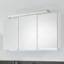 Puris Brillant Spiegelschrank - 120 cm, mit 3 Doppelspiegeltüren mit Facettenschliff- B: 1200 H: 670 T: 150