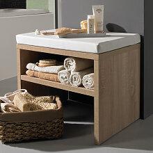 Puris Crescendo Sitzbank - Hocker - 60 cm, mit Ablagefach und Sitzkissen- B: 600 H: 458 T: 450