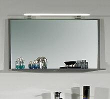 Puris Fresh Flächenspiegel - 120 cm - mit LED-Aufbauleuchte und 1 Ablageboard- B: 1200 H: 640 T: 144
