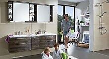 PURIS Linea 3 tlg. Badmöbel Set / Waschtisch / Unterschrank / Spiegelschrank / Premium