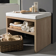 Puris Milano Sitzbank - Hocker - 60 cm, mit Ablagefach und Sitzkissen- B: 600 H: 458 T: 450