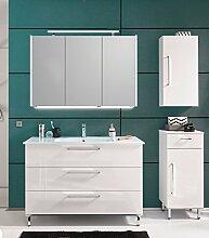 PURIS QUADA 3 tlg. Badmöbel Set / Waschtisch / Unterschrank / Spiegelschrank / Premium
