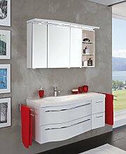 Puris Swing Badmöbel Set / Waschtisch / Unterschrank / Spiegelschrank