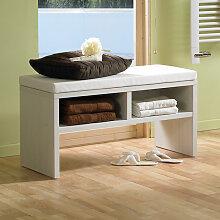 Puris Wave Plus Sitzbank - Hocker - 90 cm, mit 2 Ablagefächern und Sitzkissen- B: 900 H: 458 T: 450