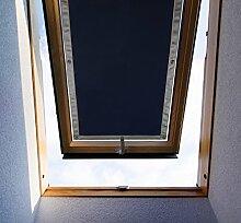 Purovi Thermo Sonnenschutz für Dachfenster | Hitzeschutz für Innen | ohne bohren ohne kleben | große Auswahl für Velux + Roto Fenster | Ausgewählte Größe: Roto 9/14 – 72 x 118 cm