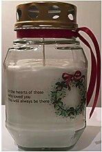 Purple Candle Grablicht Weihnachten