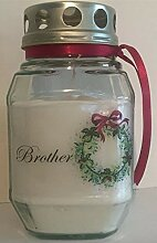 Purple Candle Weihnachten Grablicht. für
