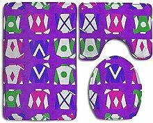 Purple Jockey Silks 3-teiliger