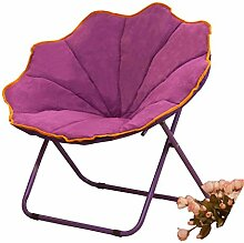 Purple Large Size Lazy Stuhl Lunch Break Fold Rückenlehne Freizeit Verstellbarer Sessel Nap Sofa