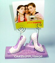 Purple Shoe Birthday Cake Decoration Topper Kit by