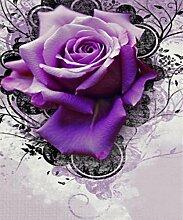 Purpurrot Rose Diamant Malerei 5D DIY Voll Bohren