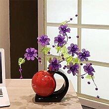 Purpurrote Blume Bar Television Arts Kristall Blumenornamente kreative Geschenke nach Hause Dekorationen Wohnzimmereinrichtung einfach, modern