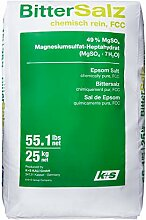 Purux Bittersalz Magnesiumsulfat 25 kg, MgSO4 Food