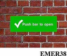 Push Bar zu öffnen HSE Schild Gesundheit &