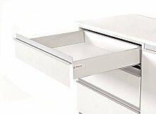 Push Open Küche Schublade Läufer System L–450–Comfort Box by rejs rund oberen Schiene, weiß, H = 86mm