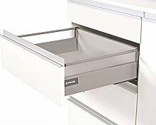 Push Open Küche Schublade Läufer System L–500–Comfort Box by rejs rund oberen Schiene, weiß, H = 140mm
