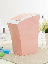 Push-Stil Mülleimer, Mini-Mini-Mülleimer, Schreibtisch Reinigung Eimer, Haushalt Kunststoff Mülleimer , 2