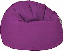 Pushbag Sitzsack BAG 500 aus dem Material Soft (Polyester), 100x95 cm, 500l, purple