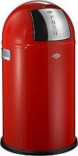 Pushboy - 50 Liter - Mülleimer - Rot