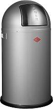 Pushboy - 50 Liter - Mülleimer - Silber