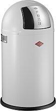 Pushboy - 50 Liter - Mülleimer - Weiß