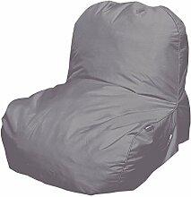 Pusher Pop Sessel aufblasbar, Nylon, Grau, 81x