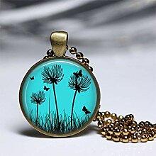 Pusteblume und Schmetterling Halskette, Pusteblume