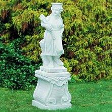 Putte Statue Gartenfigur Ährenleser aus