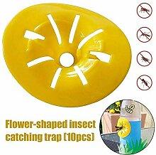 Putuio 10 Stück Wespenfalle gelb Trichter Falle