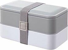 PuTwo Brotdose Kinder Bento Box mit Besteckset