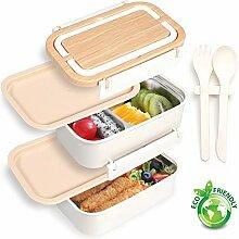 PuTwo Lunchbox, 2 Schicht 3 Fächer Brotdose