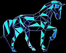 Puzzle 3D Led Lampe Pferd Usb Vision Tischlampen