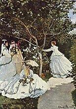 Puzzle Berühmte Gemälde 06 Frauen im Garten 1000