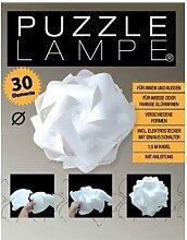 Puzzle Lampe 54cm Durchmesser im Set mit Fassung Kabel und Schalter
