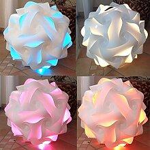 Puzzle Lampe Größe L XL XXL fertig montiert mit Farbwechselbirne (Größe L 35 cm Durchmesser)