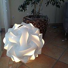 Puzzle Lampe Größe L, XL, XXL fertig zusammengepuzzelt (Größe XL 42 cm Durchmesser)