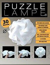 Puzzle Lampe - Grösse M (24cm) - im Geschenkkarton mit Kabel E14